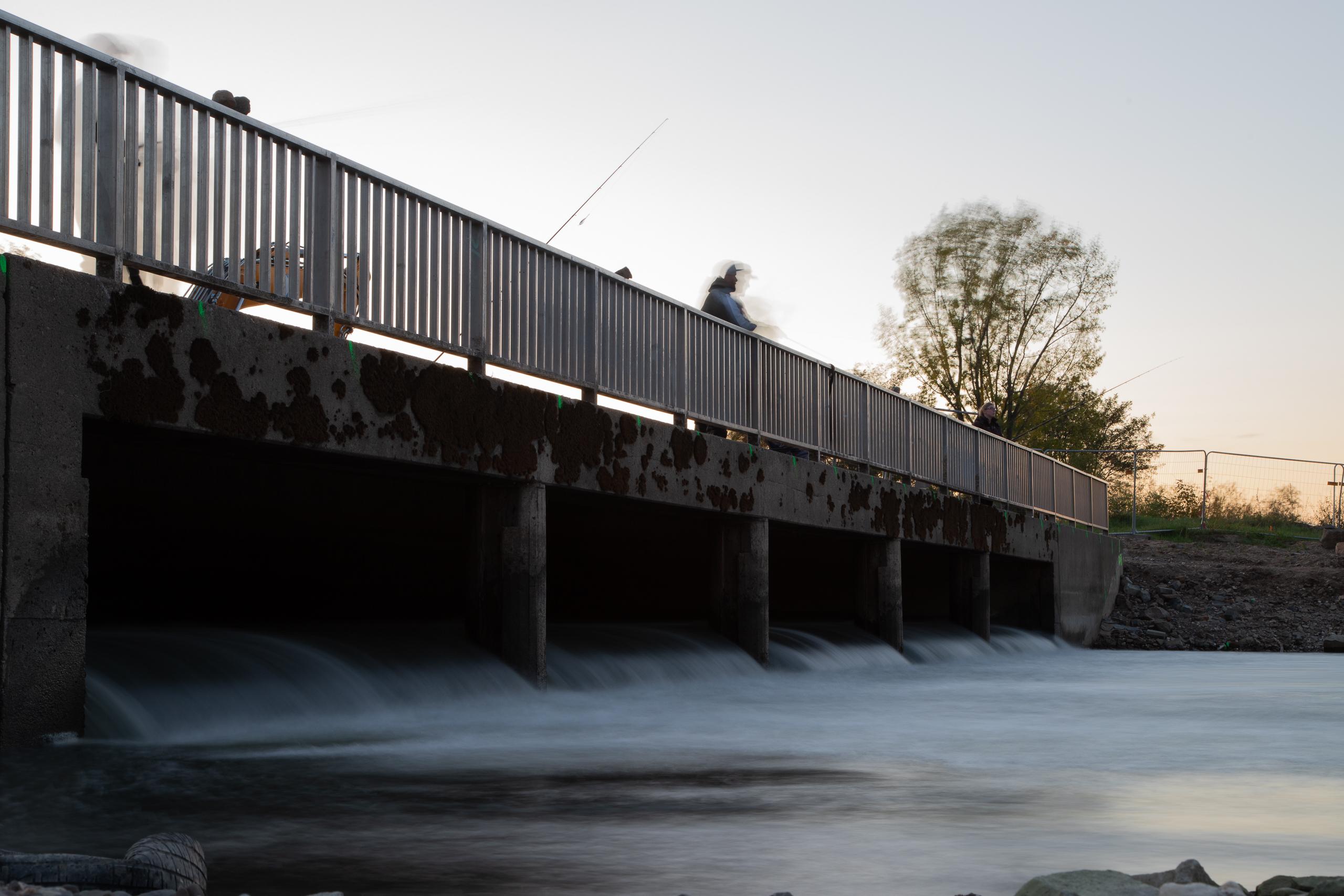 Warmwassereinlauf RheinEnergie, Heizkraftwerk Niehl, Köln