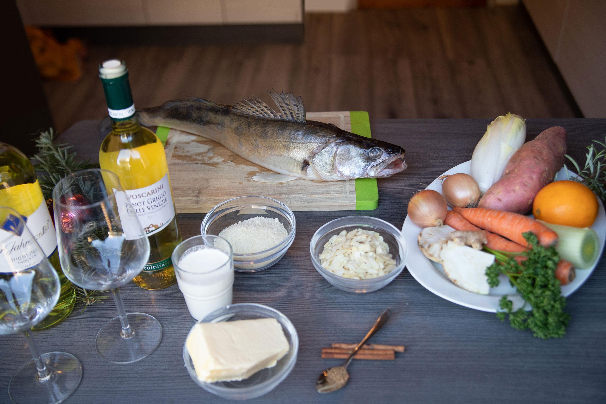 Catch and Cook Zander mit Winterlicher Süßkartoffel und Chikoree
